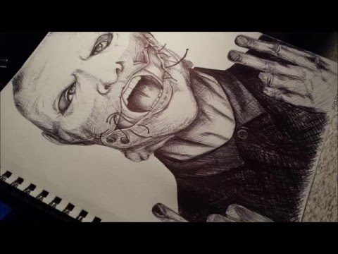Drawing Of Corey Taylor Mask 2015 - YouTube