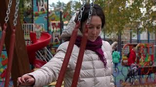 Работы по замене детских качелей  на более безопасные