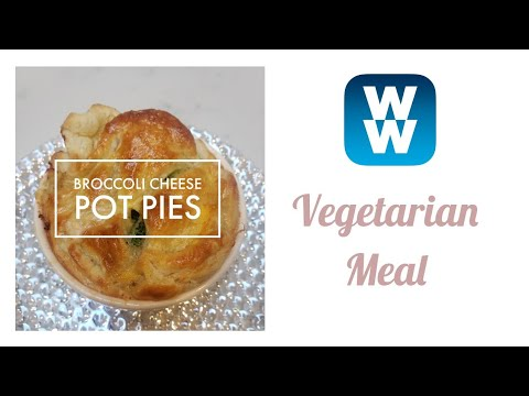 WW VEGETARIAN DINNER SERIES | BROCCOLI CHEDDAR POT PIES | WEIGHT WATCHERS!!
