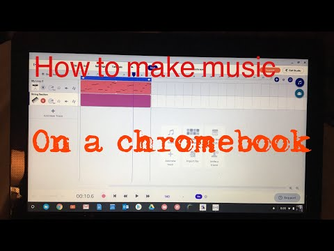 How to make music on a chromebook
