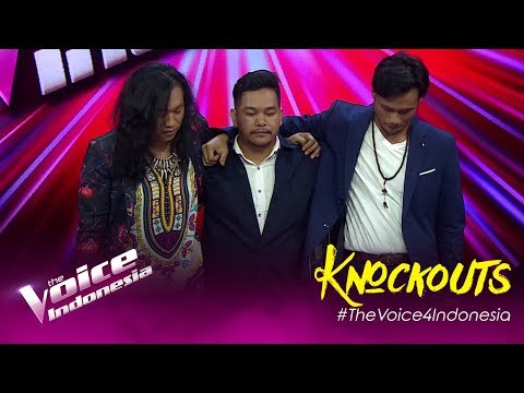 Nickholas vs David vs Aya | Knockouts | The Voice Indonesia GTV 2019