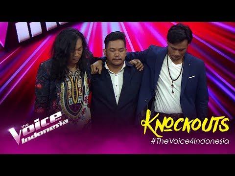 Nickholas vs David vs Aya | Knockouts | The Voice Indonesia GTV 2019