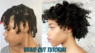 natural hair   super defined braid out