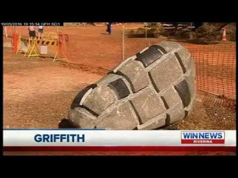 WIN News Riverina - Griffith International Sculpture Symposium