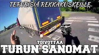 Turun Sanomien toimittaja sekoilee liikenteessä