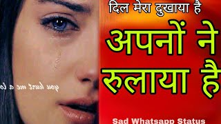 Gambar cover 💐Apno Ne Rulaya Hai..😢Dil Mera Dukhaya Hai || New Whatsapp Status || Vk Music Center👍