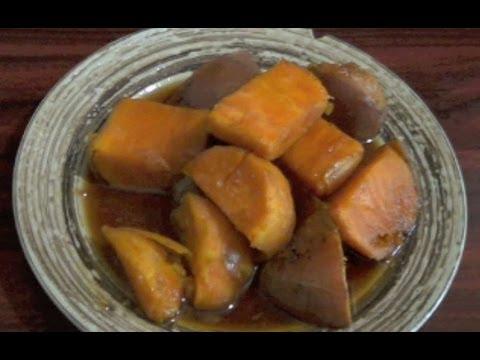 Como cocinar un rico camote en dulce sweet potato  YouTube