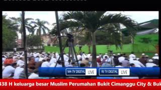 recorded live sholat idul fitri 1438 h masjid al hidayah bcv rjtv ma tv