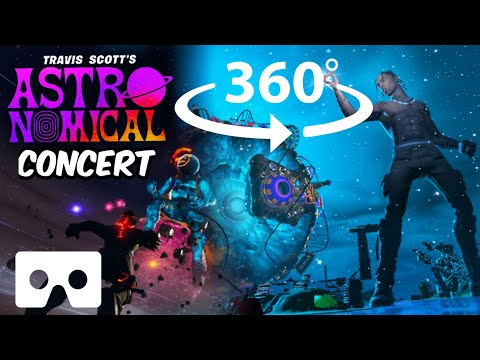360° Travis Scott Astronomical Fortnite Concert in VR | Live Music Event 2020 | No commentary