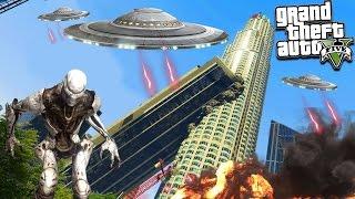 GTA 5 Моды: Инопланетяне атаковали Лос-Сантос - Война с инопланетянами!
