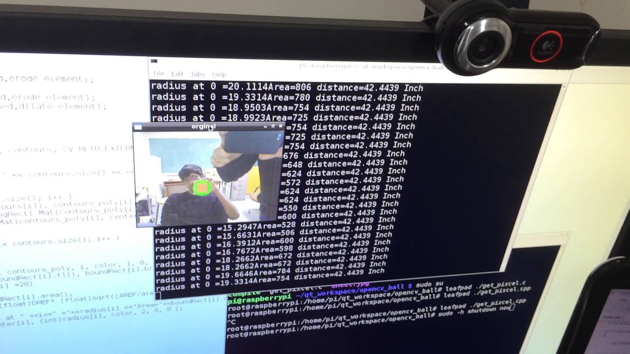 Finding distance between object and camera using Opencv on Raspberry Pi