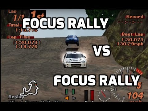 Gran Turismo 2 | Green Forest Roadway Rally Event | Ford Focus Rally Car
