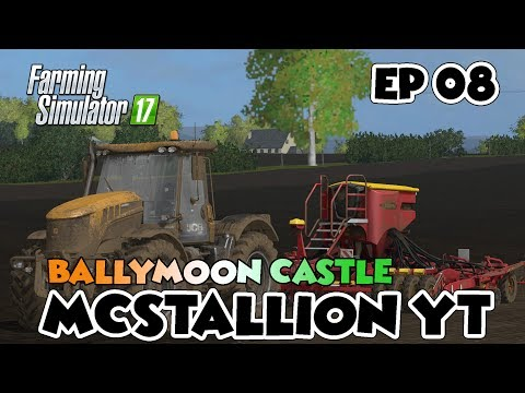 Farming Simulator 17 - Ballymoon Castle - Episode 8| SEEDING GRASS FOR OUR SHEEP