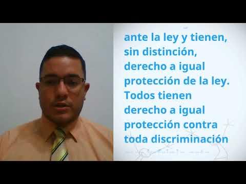 Carlos Enrique García Macias, Ecuador, reading article 7 of the Universal Declaration of Human Right