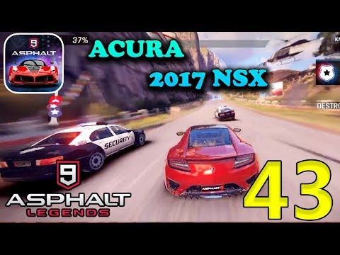 ASPHALT 9 LEGENDS - ACURA 2017 NSX GAMEPLAY ( iOS / Android ) - 동영상