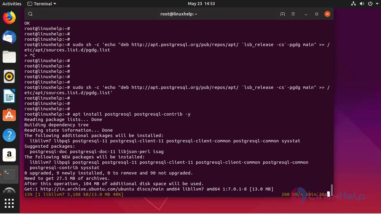 How to Install PostgreSQL 11 on Ubuntu 19 04