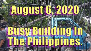 August 6, 2020. Busy Building In The Philippines.