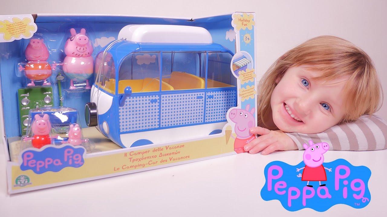 jouet le camping car peppa pig des vacances studio bubble tea unboxing youtube. Black Bedroom Furniture Sets. Home Design Ideas