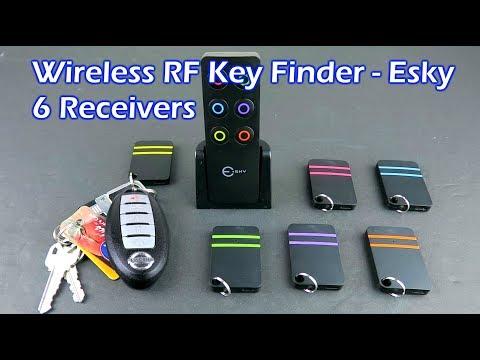 Wireless RF Key Finder with 6 Receivers - Esky