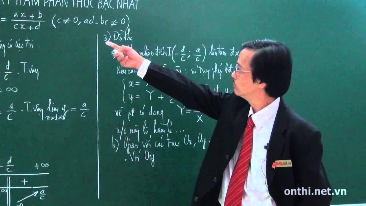 Khảo sát hàm phân thức bậc nhất (Phần 01)