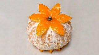 Orange Mandarin Simple Decorating - Beginners Lesson 79 By Mutita Art Of Fruit And Vegetable Carving