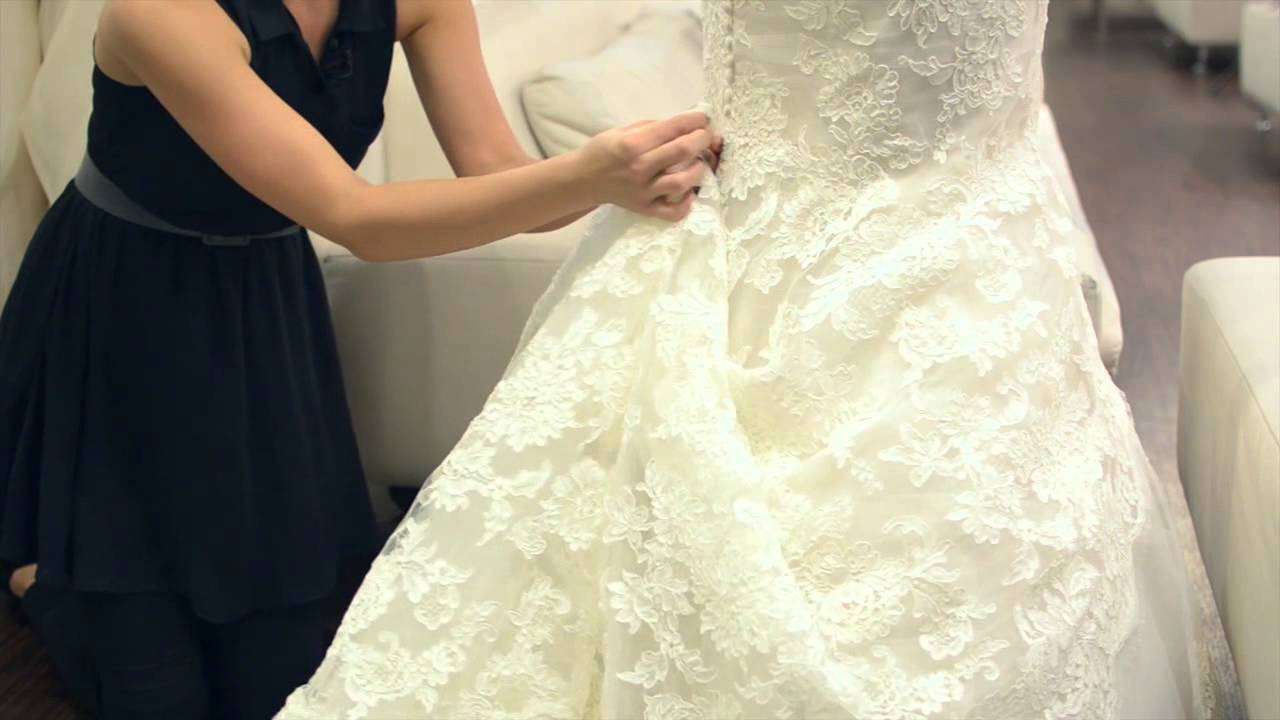 Adding Bustles to a Wedding Dress  Wedding Dresses  Bridal Fashion  YouTube