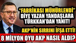 """Yandaşlar """"Fabrikası Mühürlendi"""" Demişti! Lütfü Türkkan'dan Açıklama! AKP'nin O Sırrını İfşa Etti!"""