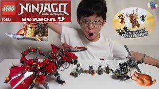 [윤건튜브] 레고 70653 닌자고 시즌9 드래곤 퍼스트본 LEGO Ninjago season9 Firstbourn Dragon Golden unboxing