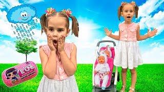 Алина играет в куклы в парке развлечений Весёлое видео для детей Pretend play with LOL