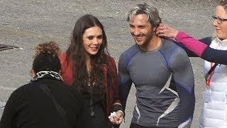 Elizabeth Olsen & Aaron Taylor-Johnson Talk Avengers 2