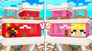 Minecraft MILLIONAIRE House Baтtle vs My Wife!