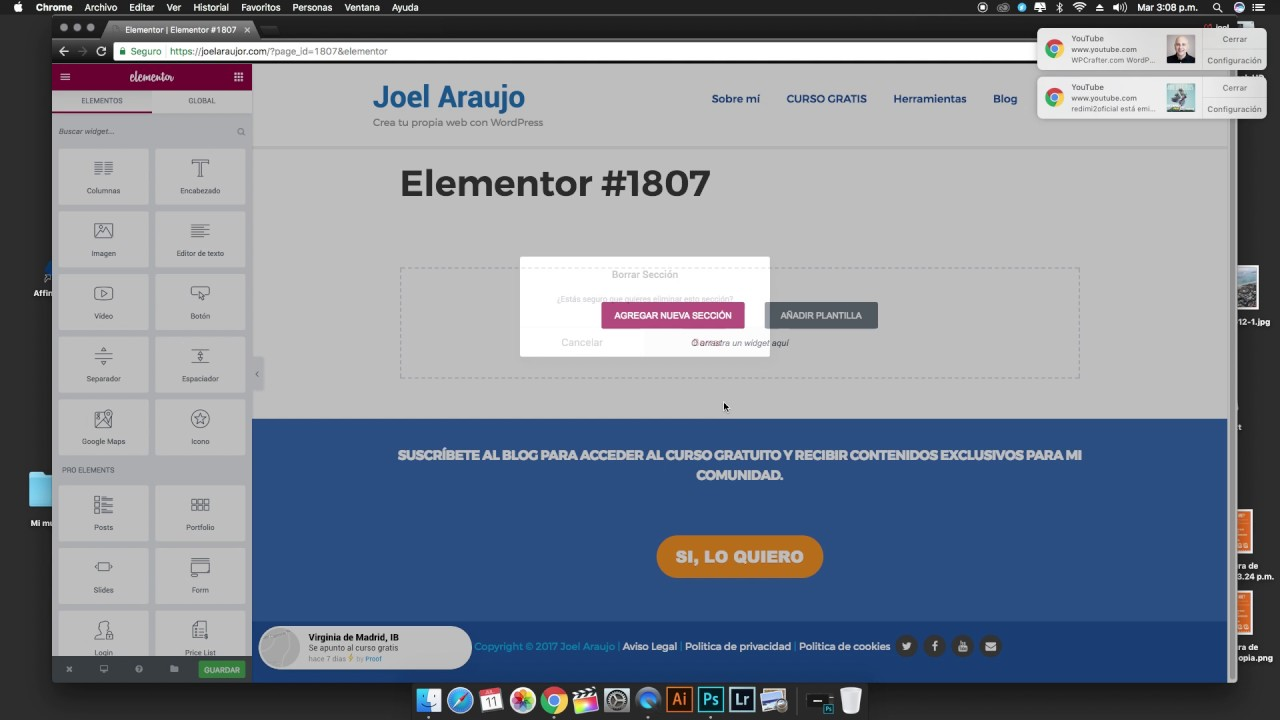 Como crear slider de post en WordPress con Elementor - YouTube