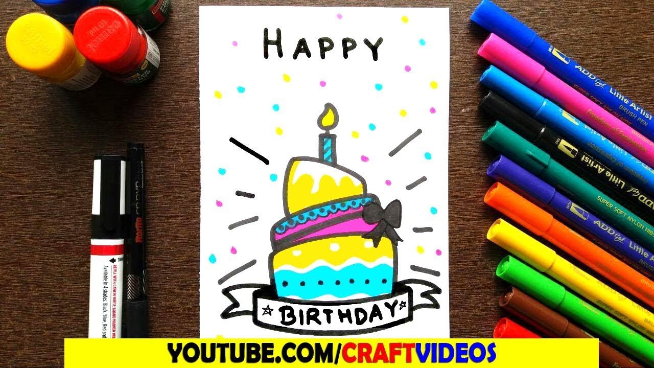 Happy Birthday Card For Mom Easy Youtube