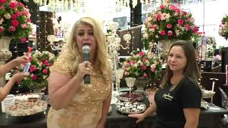 Social Nota 10 com Regina Monari vista 6ª Feira de Noivas Sunshine no Boulevard Shopping em Bauru.