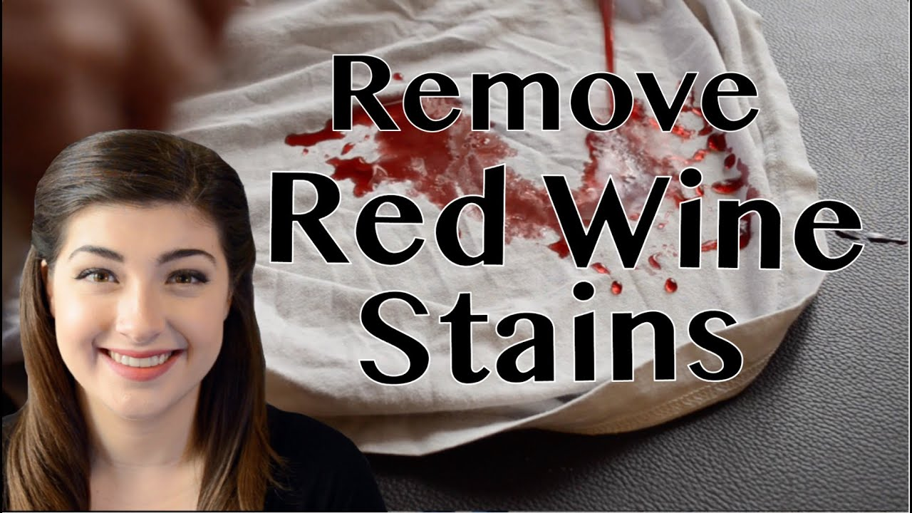 How To Remove Red Wine From White Clothing Youtube