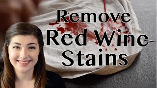 How to Remove Red Wine From White Clothing
