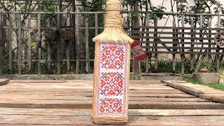 DIY: How to make Bulgarian embroidery on a whiskey bottle TUTORIAL