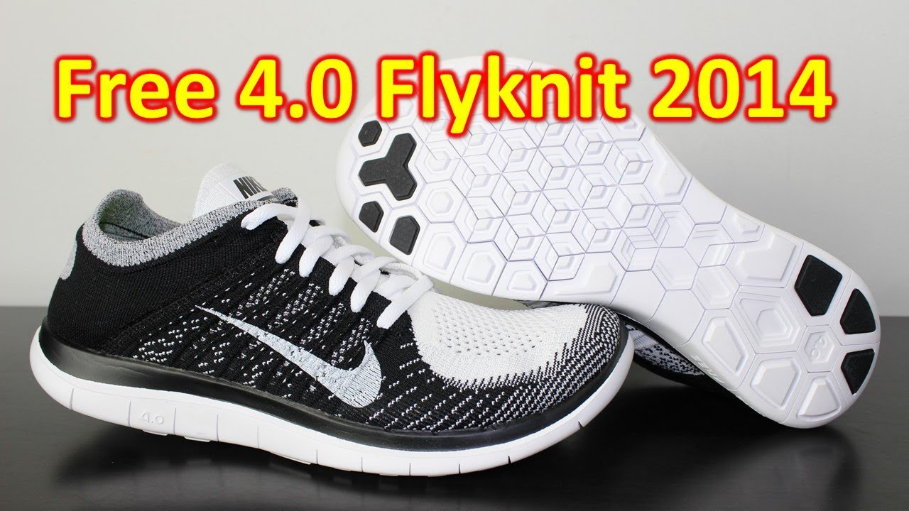 nike free 4 0 flyknit 2014 black white unboxing on feet youtube rh youtube com