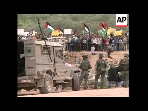 Clashes over planned Israeli barrier