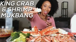 KING CRAB AND SHRIMP MUKBANG | TOSHPOINTFRO