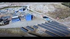 Kymen Vesi tuottaa aurinkoenergiaa Kymenlaakson Sähkön toimittamalla aurinkovoimalalla.