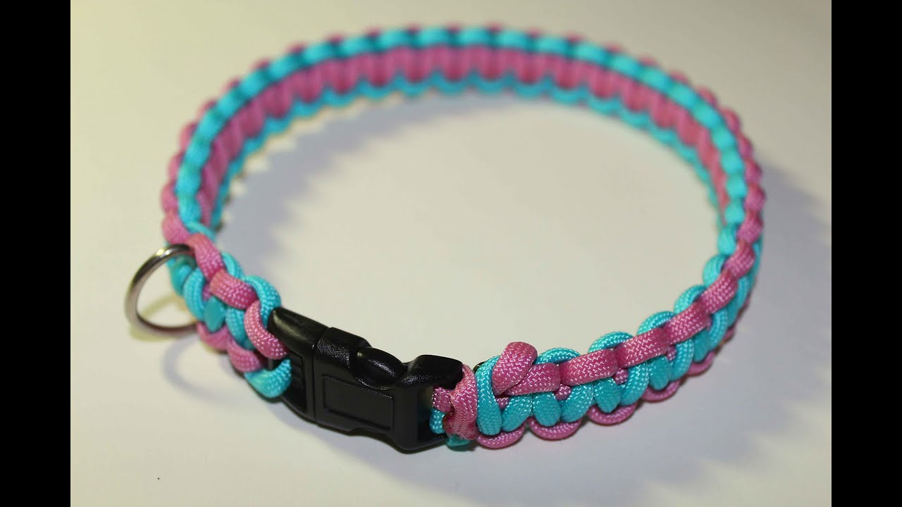 Tutorial paracord dog collar doovi for Paracord leash instructions