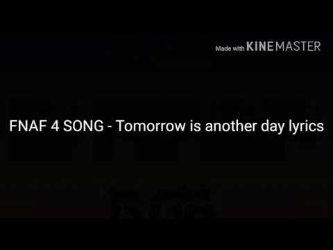 Lyrics containing the term: tomorrow is another day