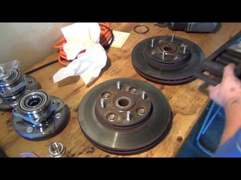 Honda Accord Front Wheel Hub and Brake Replacement (Repair Video)
