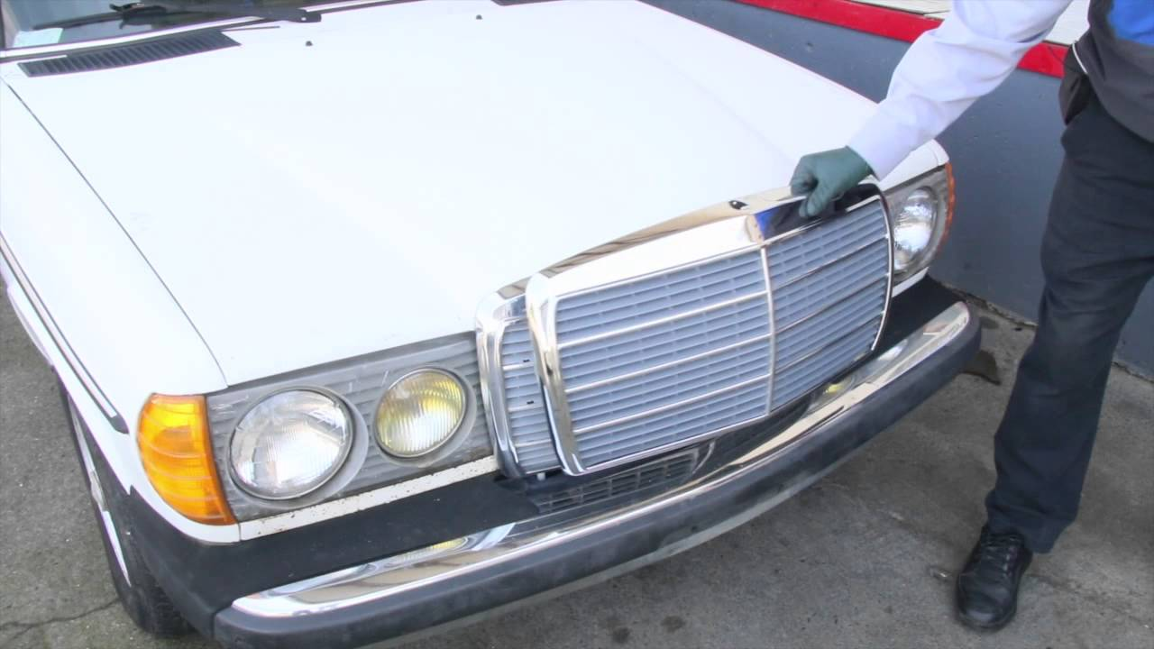 Mercedes W123 Front End Cosmetic Restoration: 1975 to 1995 Benz Series Part  32 w/ Kent Bergsma