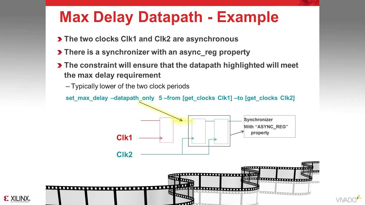 advanced timing exceptions false path min max delay and