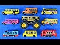 School Buses For Kids  Learn School Bus Names & Colors  Fun & Educational By Organic Learning
