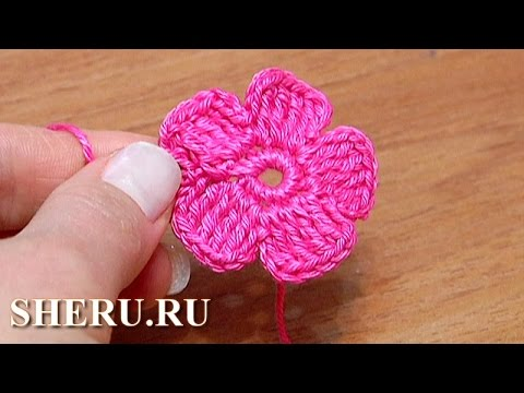 Easy To Crochet Flower Урок 28