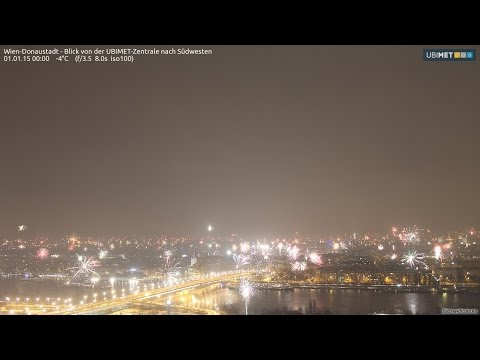 2014 at a glance: 1 year time lapse of Weather in Vienna - UBIMET Webcam
