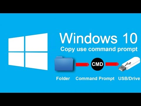 How to copy large file to USB/Drive use command prompt in Windows 10/8/7